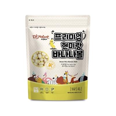 韓國【Dr.Nature】米博士 動物嘉年華 香蕉球球餅(30g)