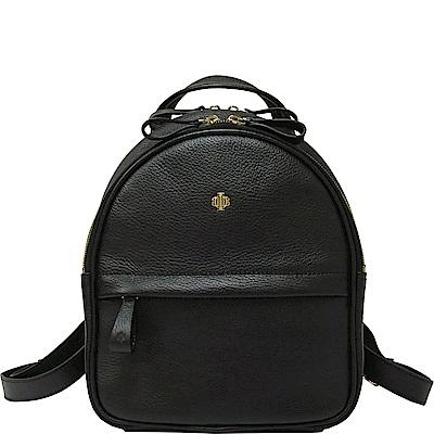 OBBI LAI 黑色荔枝紋牛皮後背包-S