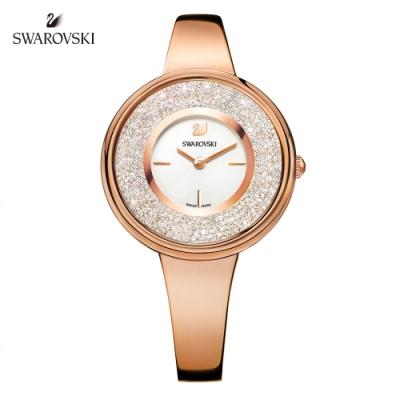 SWAROVSKI 施華洛世奇 Crystalline Pure 玫金色時尚閃耀手錶