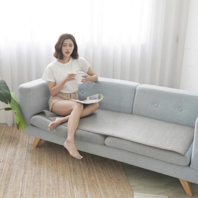BUHO 3D立體日式止滑藤蓆(灰)三人坐墊(55x170cm)
