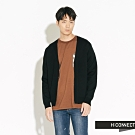 H:CONNECT 韓國品牌 男裝-針織開襟拉鍊外套-黑