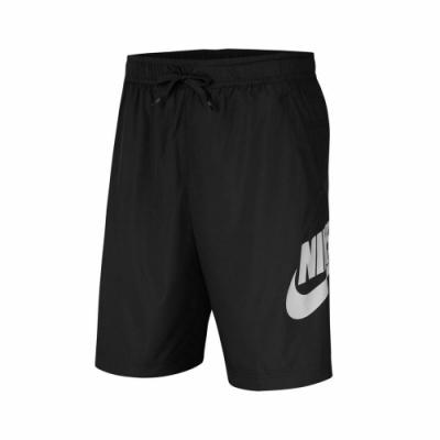 Nike 短褲 NSW Woven Shorts 男款 運動休閒 基本款 膝上 穿搭 黑 白 CJ4441010