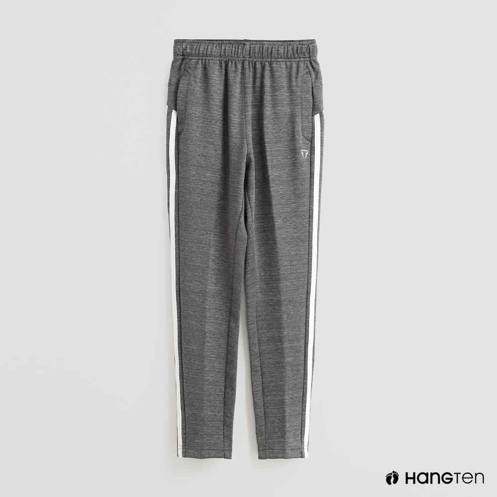 Hang Ten - 童裝 -ThermoContro-素面腰部鬆緊休閒長褲-灰