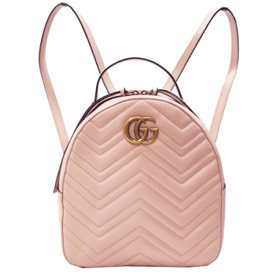 GUCCI  GG Marmont Quilted 後背包(粉紅色)