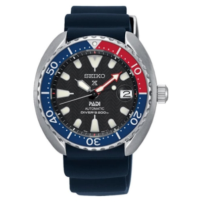 SEIKO 精工Prospex PADI 聯名潛水200米機械錶-紅藍SRPC41J1