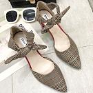 KEITH-WILL時尚鞋館 話題單品英倫格調粗跟鞋 卡其
