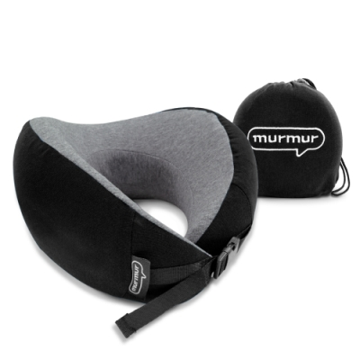 murmur-牛角頸枕-黑 NPN001(附收納袋)