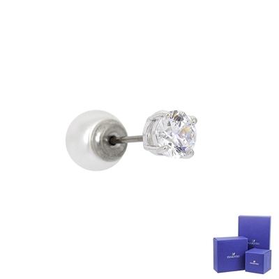 (福利品)SWAROVSKI 施華洛世奇 ATTRACT璀璨水晶珍珠銀色耳環