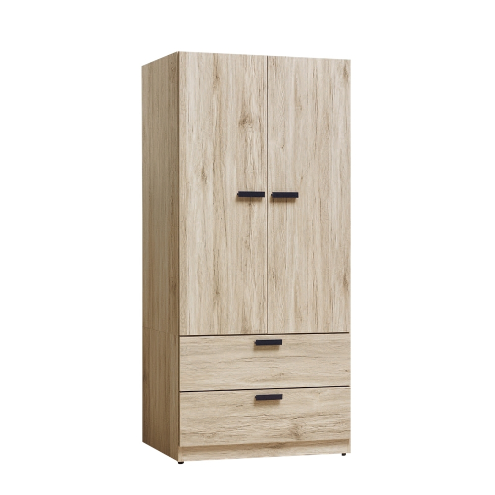 Boden-威尼2.7尺二抽衣櫃-81x57x177cm