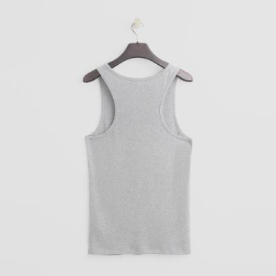 Hang Ten - 男裝 - 有機棉-簡約素色純面棉質背心 - 灰
