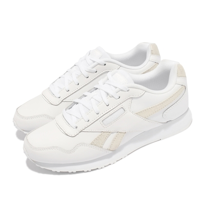 Reebok 休閒鞋 Royal Glide LX 運動 女鞋 經典款 皮革鞋面 金屬logo 穿搭 白 金 DV6836
