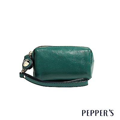 PEPPER`S Olivia 羊皮雙拉鍊零錢包 - 孔雀綠