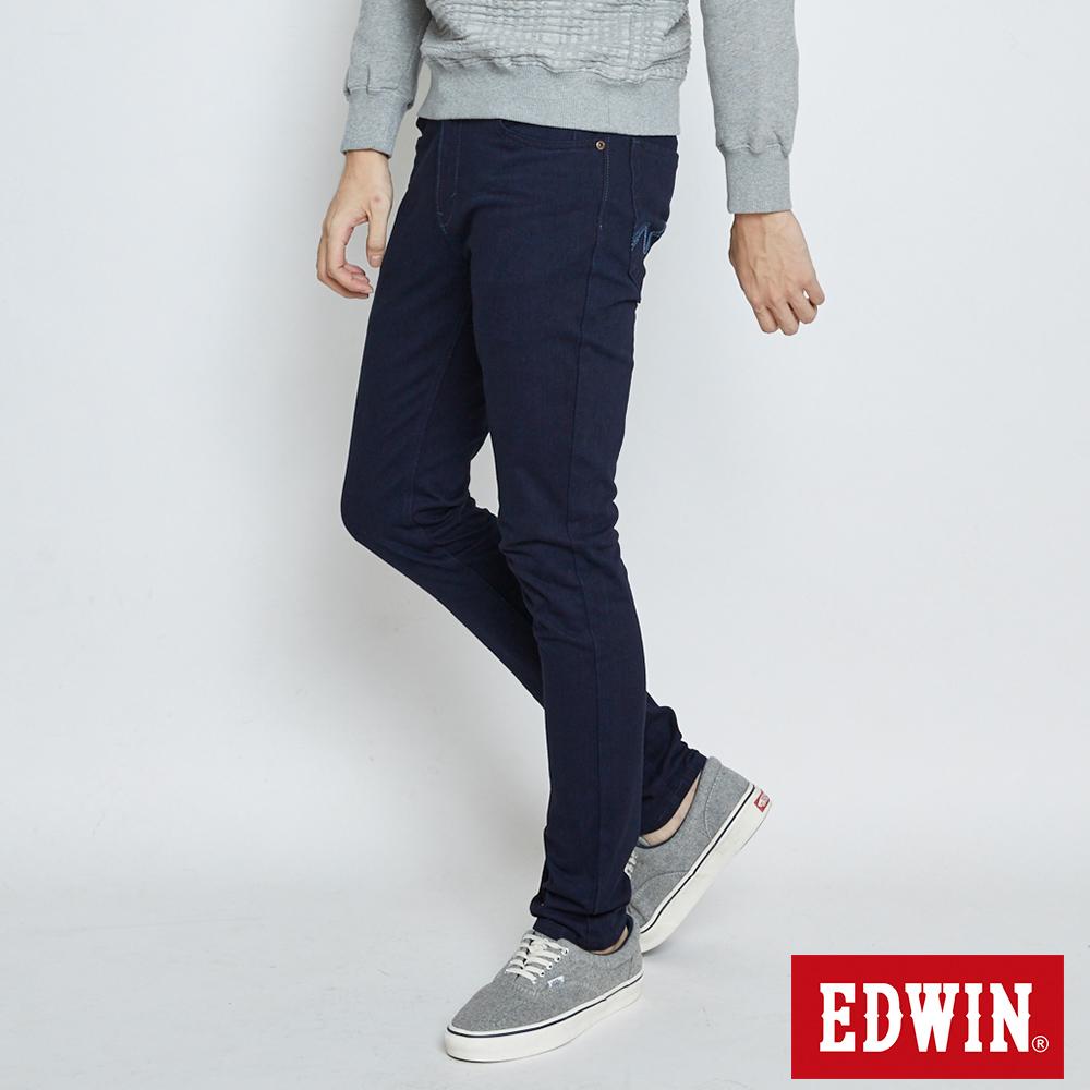 EDWIN 大尺碼迦績褲JERSEYS復古棉感窄直筒褲-男-原藍色