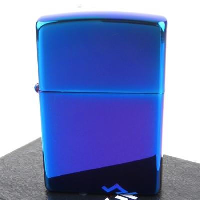 ZIPPO 美系~超質感Indigo靛藍色鏡面打火機
