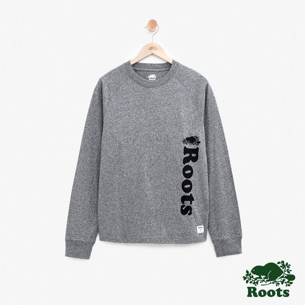 男裝Roots 原創長袖T恤-灰色