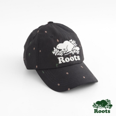 配件Roots- 周年紀念滿版印花棒球帽-黑