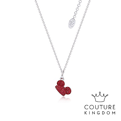 Disney Jewellery by Couture Kingdom米奇紅水晶鍍白金項鍊