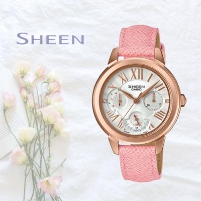 CASIO卡西歐 粉嫩秀氣腕錶(SHE-3059PGL-7A)