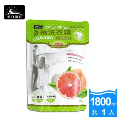 朝日田野 柚子酵素洗衣精 補充包 1800ml