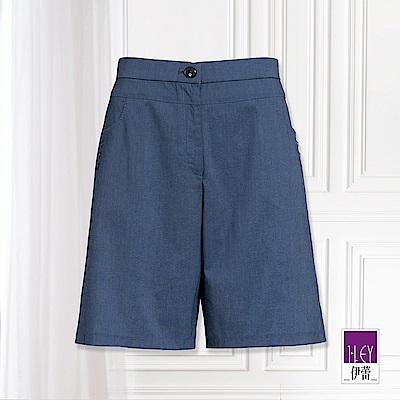 ILEY伊蕾 輕盈彈力五分褲(藍)