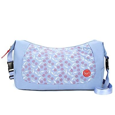 ELLE Active 法式櫻桃系列-肩背側背兩用包-深藍色