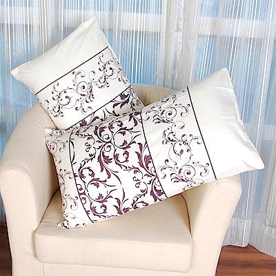 AmoreCasa 綿柔感時尚美式薄枕套2入-羅蘭紫