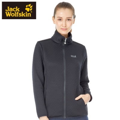 【Jack wolfskin 飛狼】女 率性立領夾棉保暖外套『黑色』
