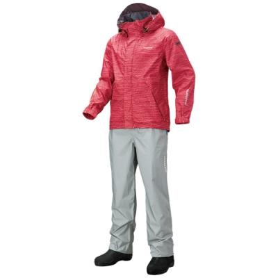 【SHIMANO】防水透氣戶外套裝 浪紋粉紅 RA-027Q