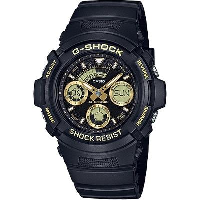G-SHOCK 無限Tough精神雙顯腕錶-金(AW-591GBX-1A9)/46mm
