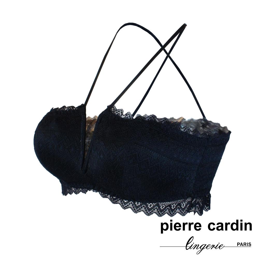 Pierre Cardin皮爾卡登 蕾絲系列 後交叉美背 無鋼圈內衣 (黑)