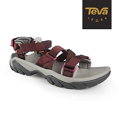 TEVA 女 Terra Fi 5 Sport 戶外機能運動涼鞋-深紅