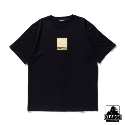 XLARGE S/S TEE EMBROIDERY SQUARE OG 方形LOGO刺繡短T-黑