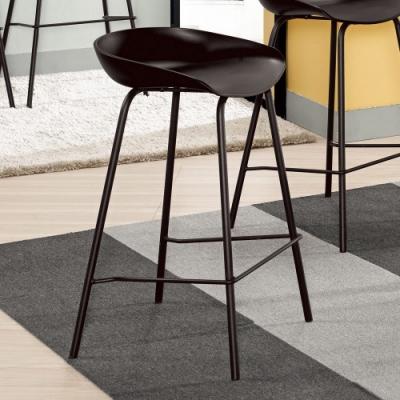 Boden-范希工業風吧台椅/吧檯椅/高腳椅(低)(二入組合)(兩色可選)-47x42x74cm