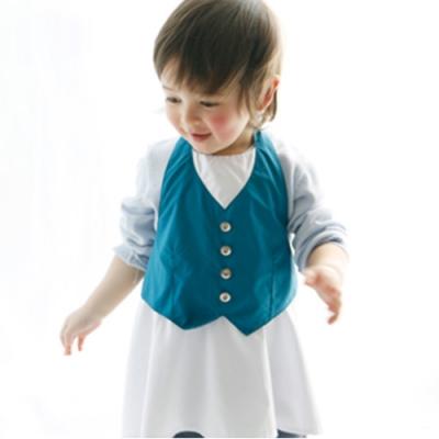 MARLMARL兒童用餐圍裙 男孩/藍綠(Baby 80-90cm)