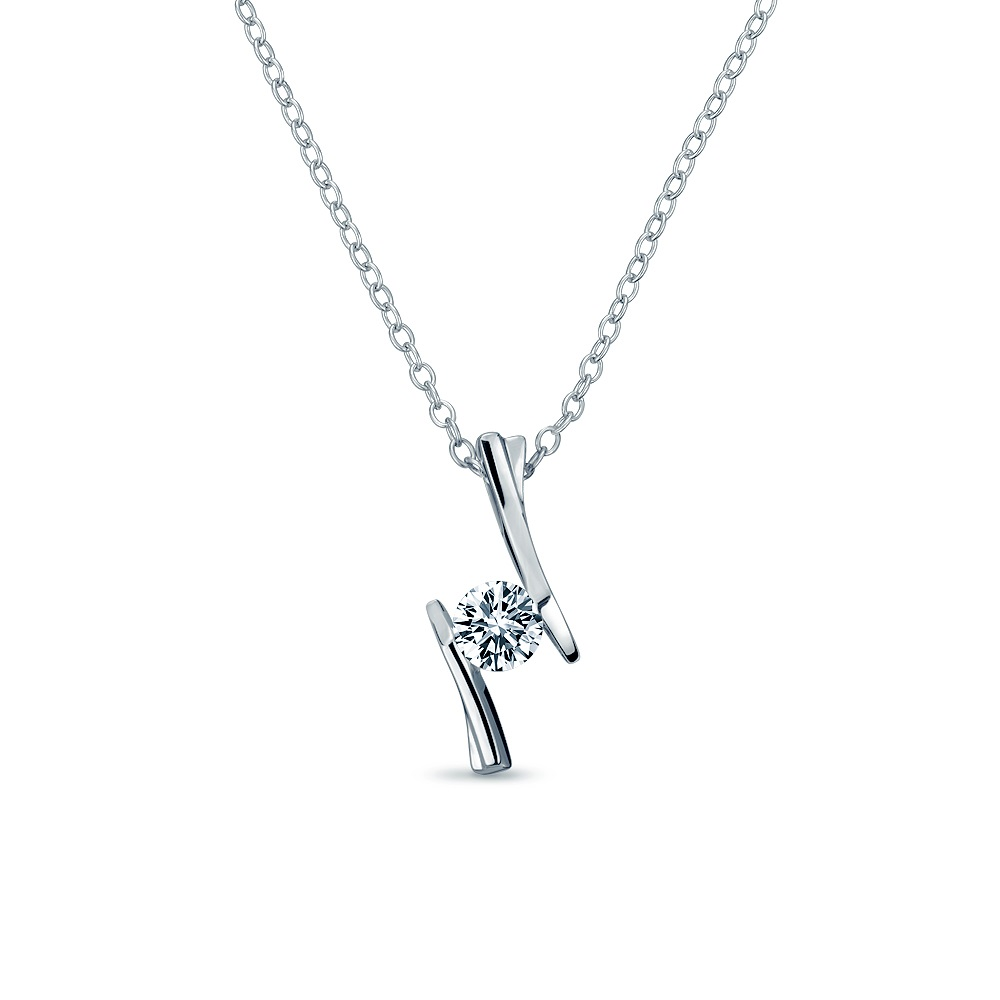 Alesai 艾尼希亞鑽石 30分 鑽石項鍊 3選1 (日本輕珠寶10K系列) (APF36)