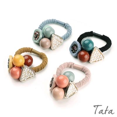 水鑽珍珠糖果球髮圈(2入) 共二組 TATA