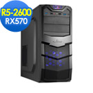微星B450平台[奇幻火神]R5六核RX570獨顯SSD電玩機
