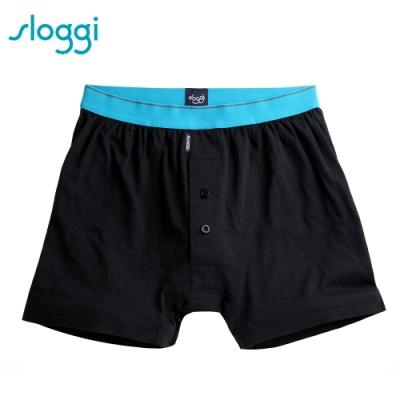 sloggi Men-Organic Cotton系列寬鬆平口褲 M-XXL 純粹黑 90-230 04