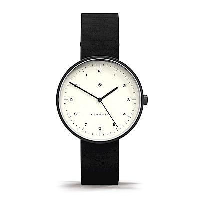 Newgate | DRUMLINE-經典數字-復古白-皮革錶帶-40mm