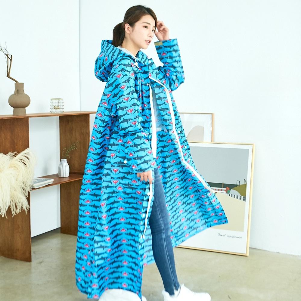 RAINSTORY龐克鯊魚連身雨衣(L號)