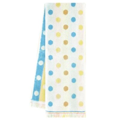 日本丸真 Eco de COOL 涼感運動毛巾 水玉點點雙面條紋棕藍
