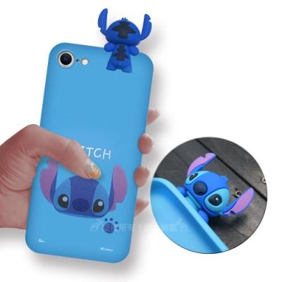 迪士尼授權正版 iPhone SE 2020/SE2 趴姿公仔手機殼 親膚軟殼(史迪奇)