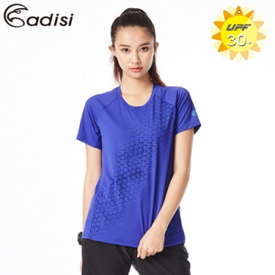 ADISI 女圓領抗UV排汗衣AL1811152 靛紫(S~2XL)