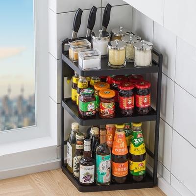 【HappyLife】廚房置物架32長3層配刀架 32×22×60CM