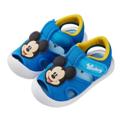 迪士尼童鞋 米奇 立體造型護趾涼鞋-藍(柏睿鞋業)