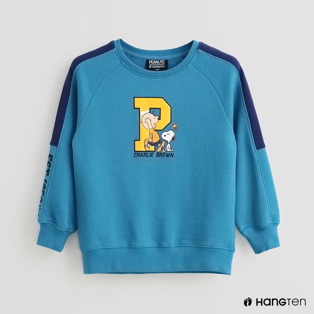 Hang Ten -童裝 - Charlie Brown-好朋友印花長袖上衣 - 藍