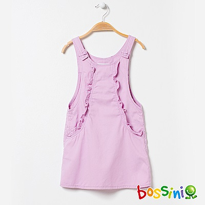 bossini女童-背心吊帶裙01紫紅