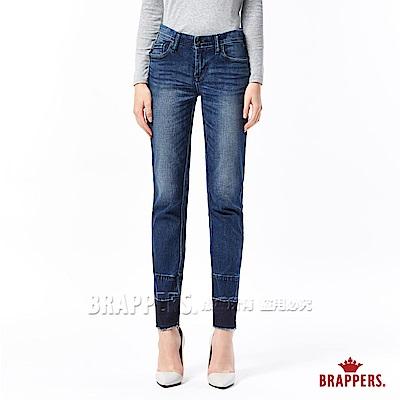 BRAPPERS 女款 新美腳ROYAL系列-女用中低腰彈性漸層直筒褲-藍