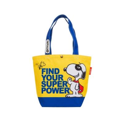 【OUTDOOR】SNOOPY聯名款購物袋-黃色 ODP19F01YL