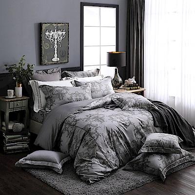 OLIVIA   奧汀 深灰 300織精梳純棉   加大雙人床包被套四件組